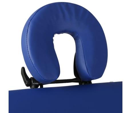 Table de Massage Pliante 4 Zones Bleu Cadre en Aluminium[9/9]