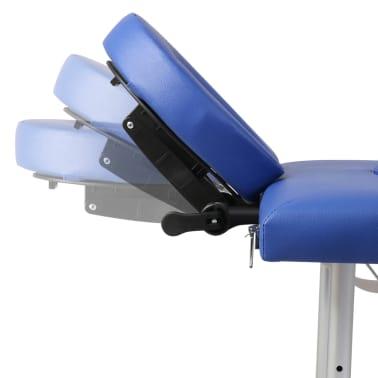 Table de Massage Pliante 4 Zones Bleu Cadre en Aluminium[6/9]