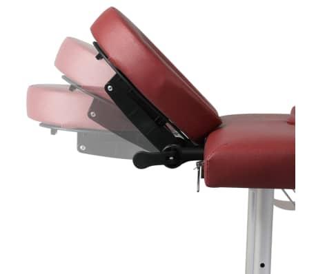 Rdeča zložljiva masažna miza s 4 območji in aluminjastim okvirjem[7/9]