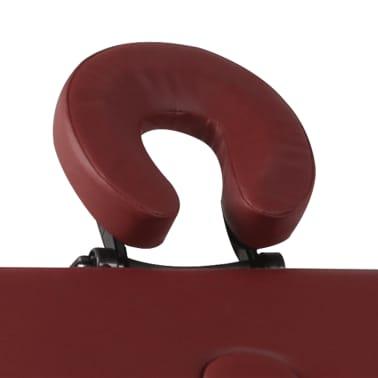 Rdeča zložljiva masažna miza s 4 območji in aluminjastim okvirjem[4/9]