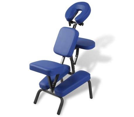 vidaXL Zložljiv in prenosen masažni stol moder[1/7]