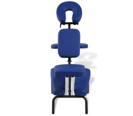 vidaXL Zložljiv in prenosen masažni stol moder[2/7]