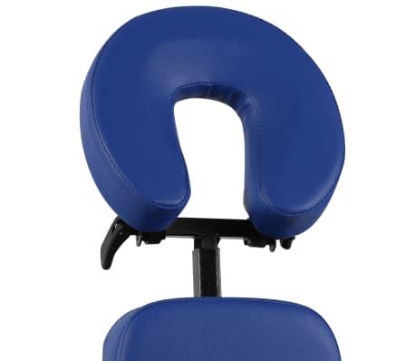 vidaXL Zložljiv in prenosen masažni stol moder[3/7]