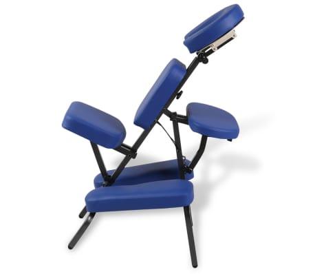 vidaXL Zložljiv in prenosen masažni stol moder[4/7]