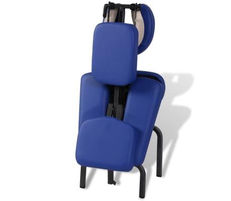 vidaXL Zložljiv in prenosen masažni stol moder[6/7]