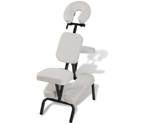 Sulankstoma ir Nešiojama Masažo Kėdė, Balta