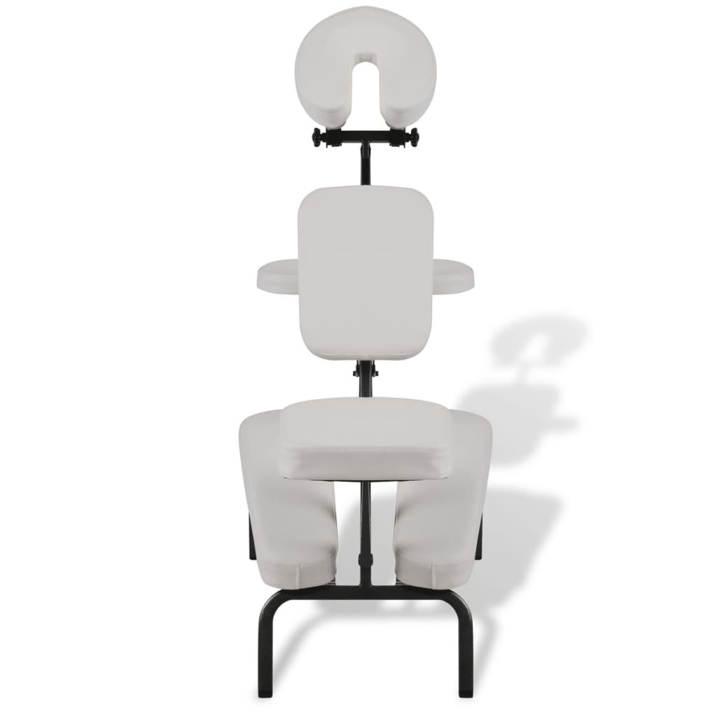 Bílá skládací a přenosná masážní židle