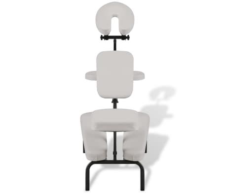 ddad79b05b5e Biela skladacia a prenosná masážna stolička 2 7
