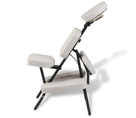 5ec290242d49 Biela skladacia a prenosná masážna stolička 4 7