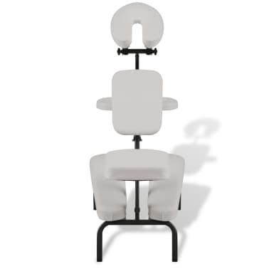 Sulankstoma ir Nešiojama Masažo Kėdė, Balta[2/7]