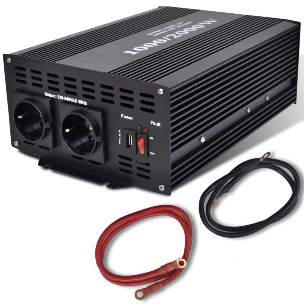 Convertor de tensiune 1000-2000 W cu port USB poza 2021 vidaXL
