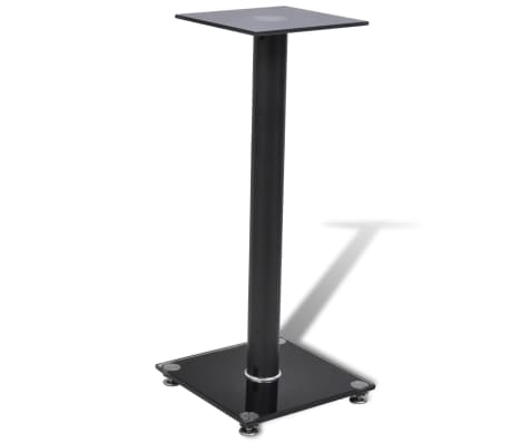 2 pcs Glass Speaker Stand (Each with 1 Black Pillar)[3/7]
