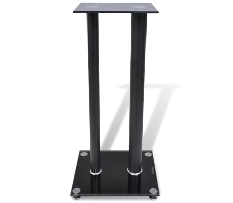 2 pcs Glass Speaker Stand (Each with 2 Black Pillars)[2/7]