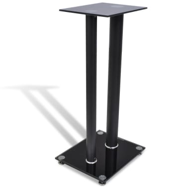 2 pcs Glass Speaker Stand (Each with 2 Black Pillars)[3/7]