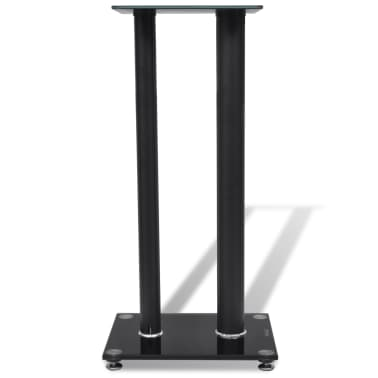 2 pcs Glass Speaker Stand (Each with 2 Black Pillars)[4/7]