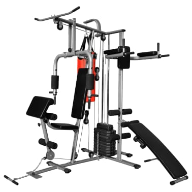 Multi functional home gym with boxing bag vidaxl