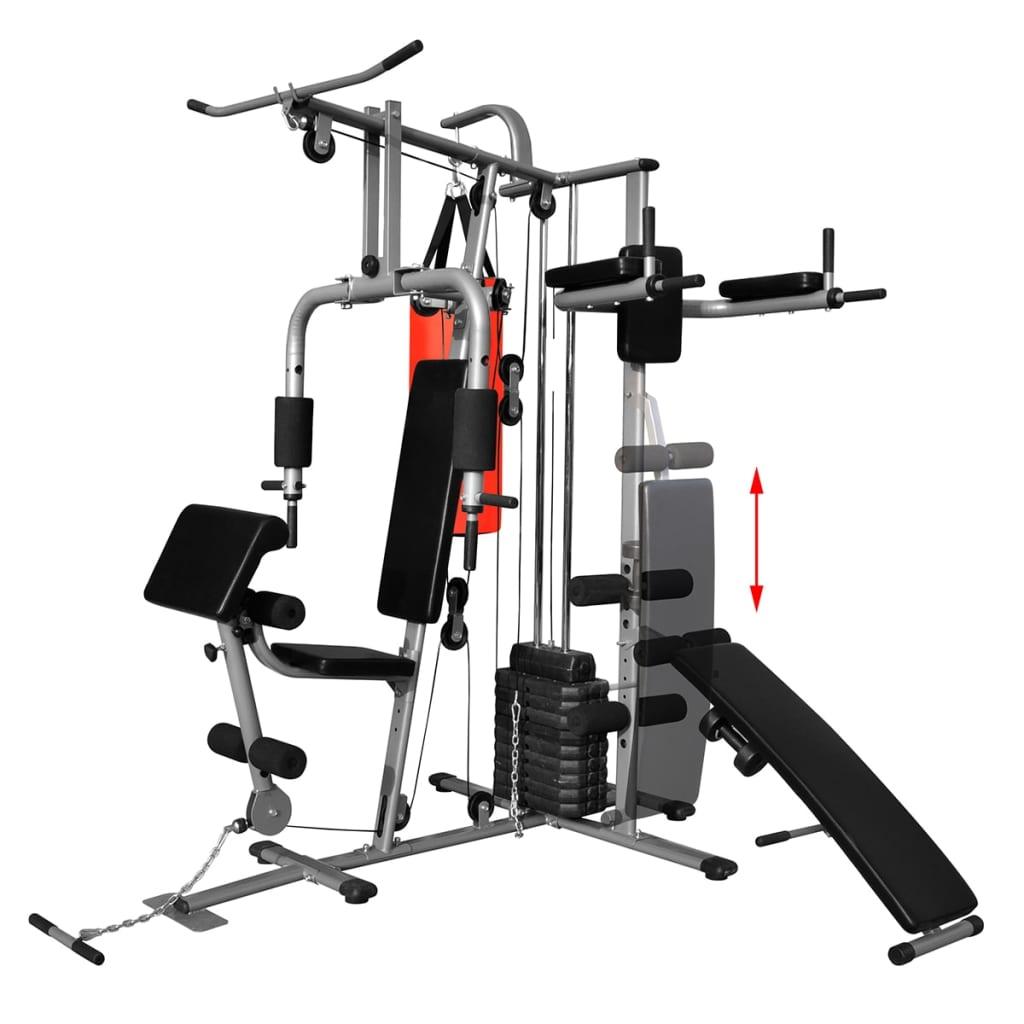 99990666 Fitness Kraftturm Multifunktionaler Heimtrainer mit Boxsack