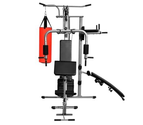 Fitness Kraftturm Multifunktionaler Heimtrainer mit Boxsack[3/8]