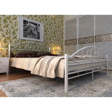 Metallbett weiß 140x200 mit lattenrost und matratze  Metallbett Doppelbett mit Lattenrost weiß 140x200 cm + Matratze ...