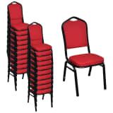 vidaXL Esszimmerstühle 20 Stk. Stoff Rot