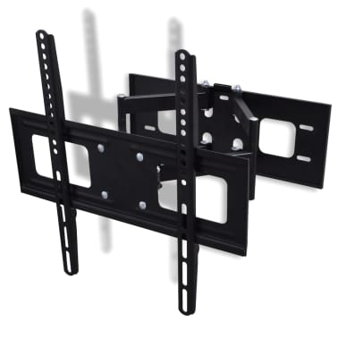 vidaXL Supporto TV 3D a Muro Inclinabile Girevole Staffa 400x400 mm[3/9]