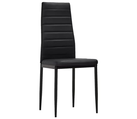 vidaXL spisebordsstole 2 stk. kunstlæder sort[3/8]