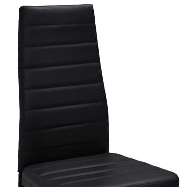vidaXL spisebordsstole 2 stk. kunstlæder sort[7/8]