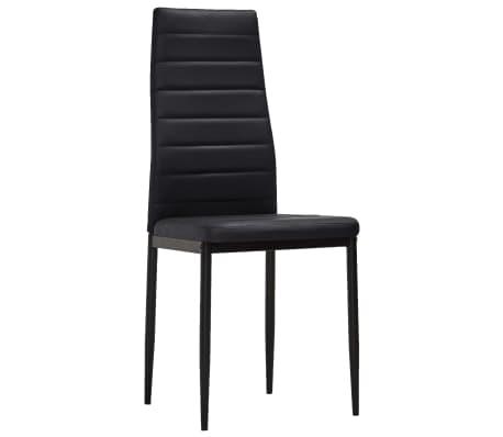 vidaXL spisebordsstole 4 stk. slankt design sort[3/8]