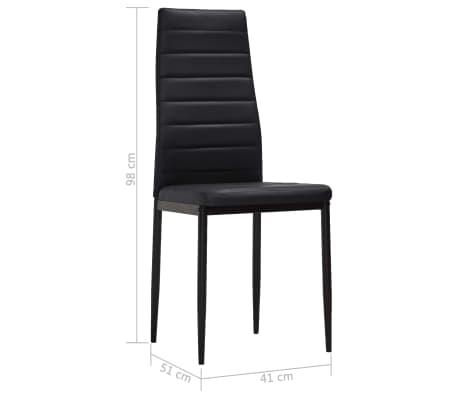 vidaXL Chaise de salle à manger 4 pcs Design fin Noir[8/8]