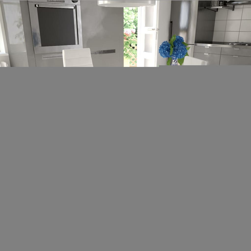 vidaXL Jídelní židle 2 ks bílé umělá kůže