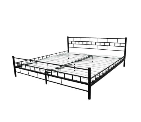 metallbett doppelbett mit lattenrost schwarz 180 x 200 cm matratze g nstig kaufen. Black Bedroom Furniture Sets. Home Design Ideas