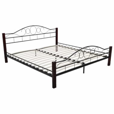 metallbett doppelbett schwarz rostbraun 140x200 cm matratze g nstig kaufen. Black Bedroom Furniture Sets. Home Design Ideas