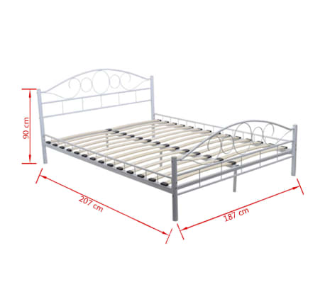 metallbett doppelbett mit lattenrost wei 180x200 cm matratze g nstig kaufen. Black Bedroom Furniture Sets. Home Design Ideas