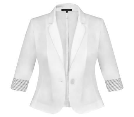 Anzug Damen Blazer und Minrock Weiß Gr. 34[6/14]
