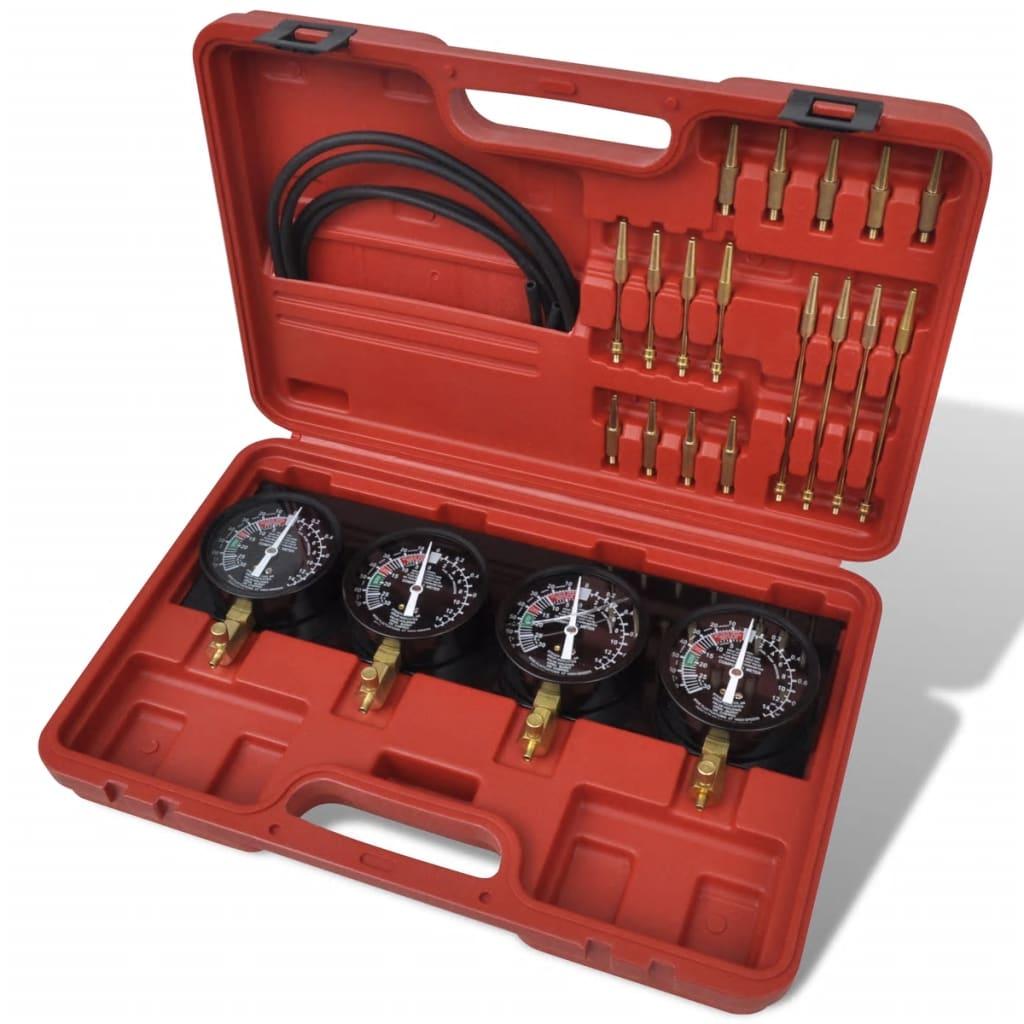 Set unelte pentru sincronizare carburator, cu manometre cu placă fixă vidaxl.ro
