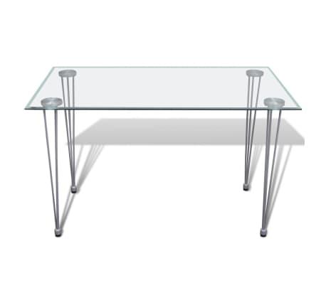 Jídelní stůl s průhlednou skleněnou deskou[2/4]