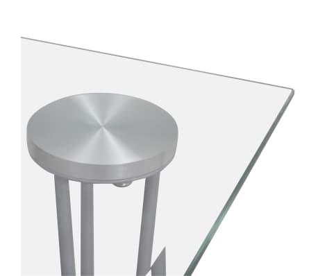 Jídelní stůl s průhlednou skleněnou deskou[3/4]
