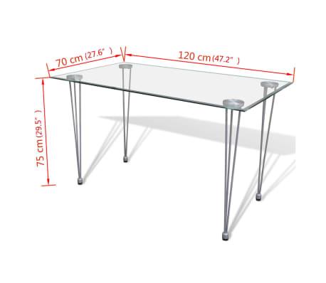 Jídelní stůl s průhlednou skleněnou deskou[4/4]