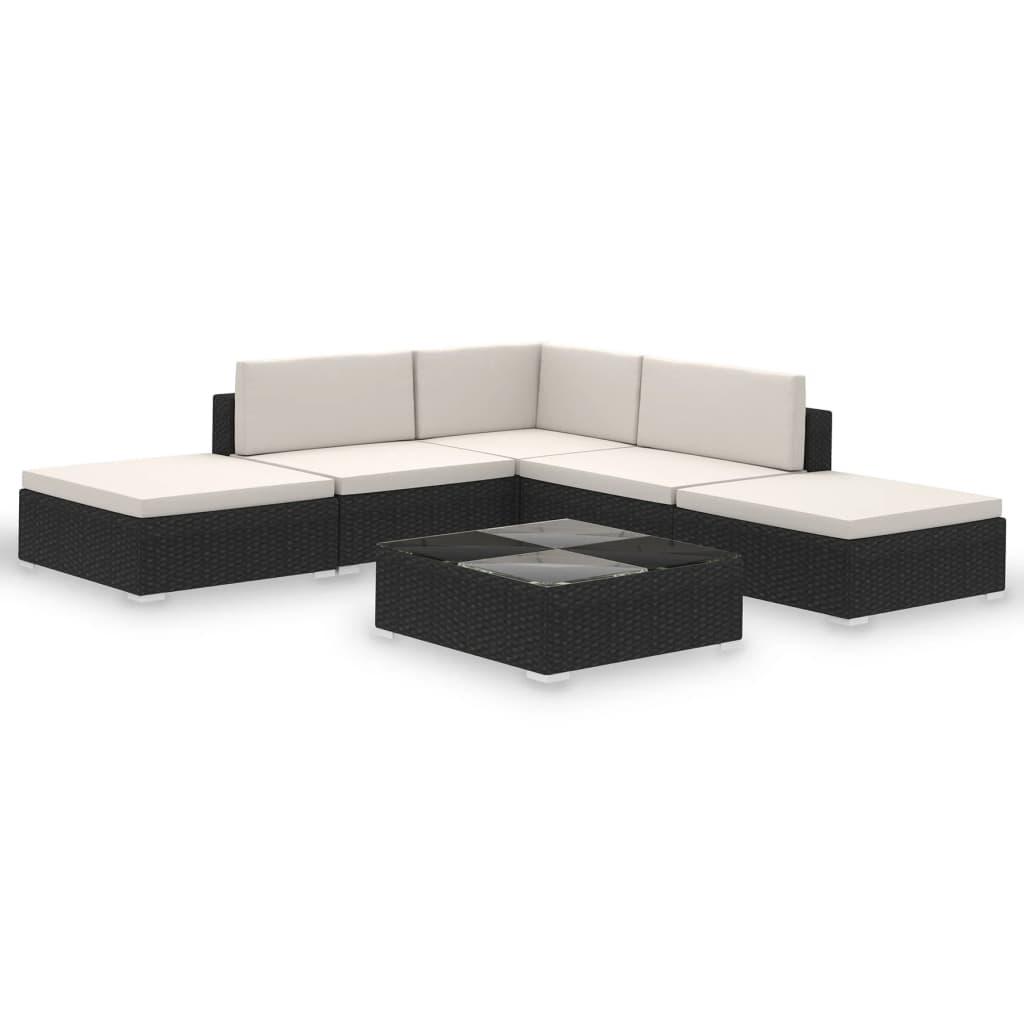 Deze rattan loungeset is stijlvol en functioneel. De set is een blikvanger in de tuin of patio en kan het hele jaar door buiten worden gebruikt.