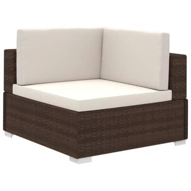 vidaXL Jeu de meuble de jardin 24 pcs Marron Résine tressée[3/8]