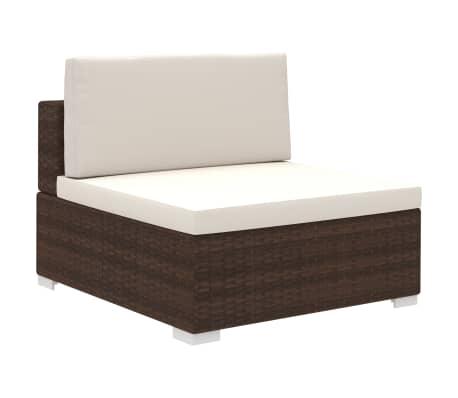 Acheter vidaxl jeu de meuble de jardin 35 pcs marron for Meuble jardin resine tressee
