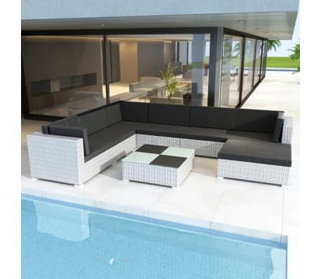 vidaxl poly rattan loungeset 24 delig wit online kopen. Black Bedroom Furniture Sets. Home Design Ideas