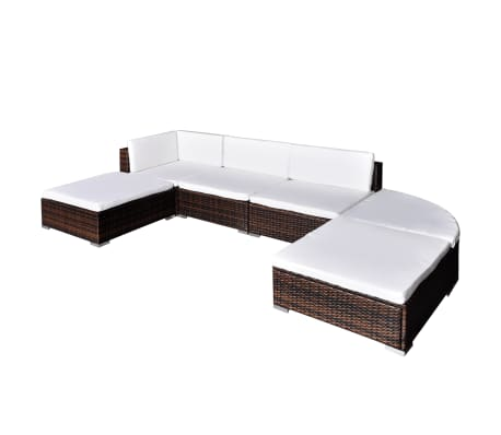 vidaxl gartenlounge set 16 tlg braun poly rattan g nstig kaufen. Black Bedroom Furniture Sets. Home Design Ideas