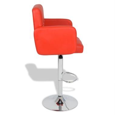 barhocker mit armlehnen kunstleder rot 2 er set zum schn ppchenpreis. Black Bedroom Furniture Sets. Home Design Ideas