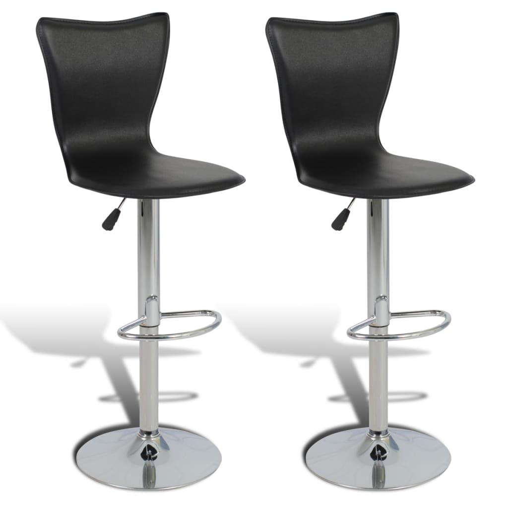 vidaXL Barové židle 2 ks nastavitelné, otočné, ve tvaru L, černé
