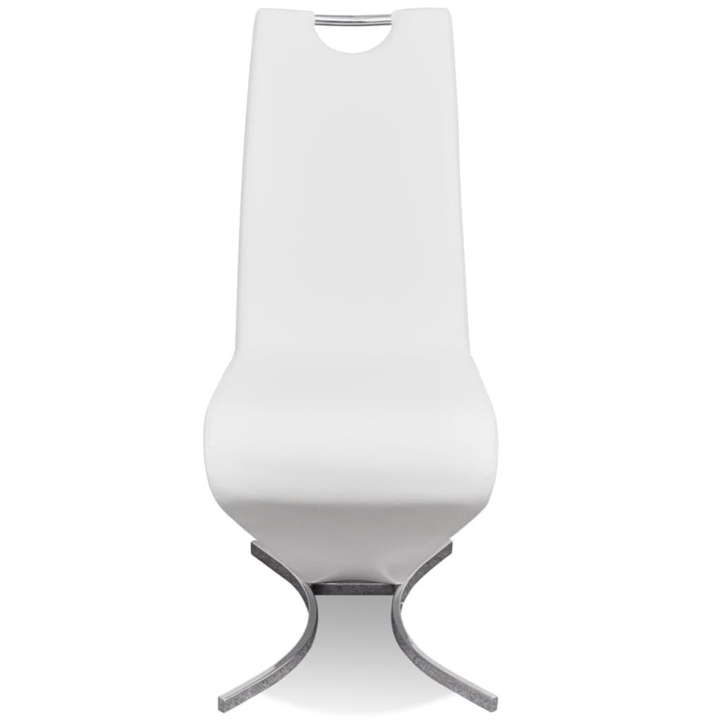 468ef9617e1 Valged kunstnahast konsooldisainiga toolid H-kujulise jalaga 4 tk