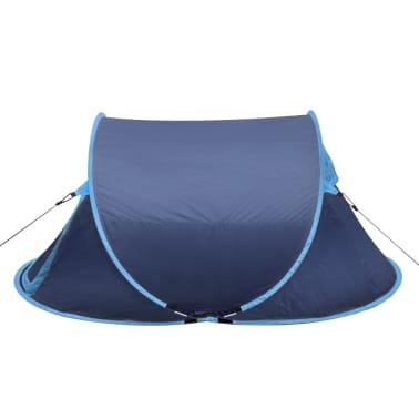 vidaXL Campingtelt popup 2 personer marineblå/lyseblå[2/3]
