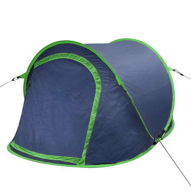 Pop-up tent 2 personen marineblauw / groen[1/3]