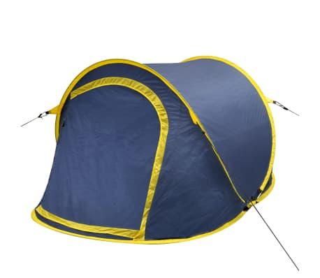 Pop-up tent 2 personen marineblauw / geel[1/3]