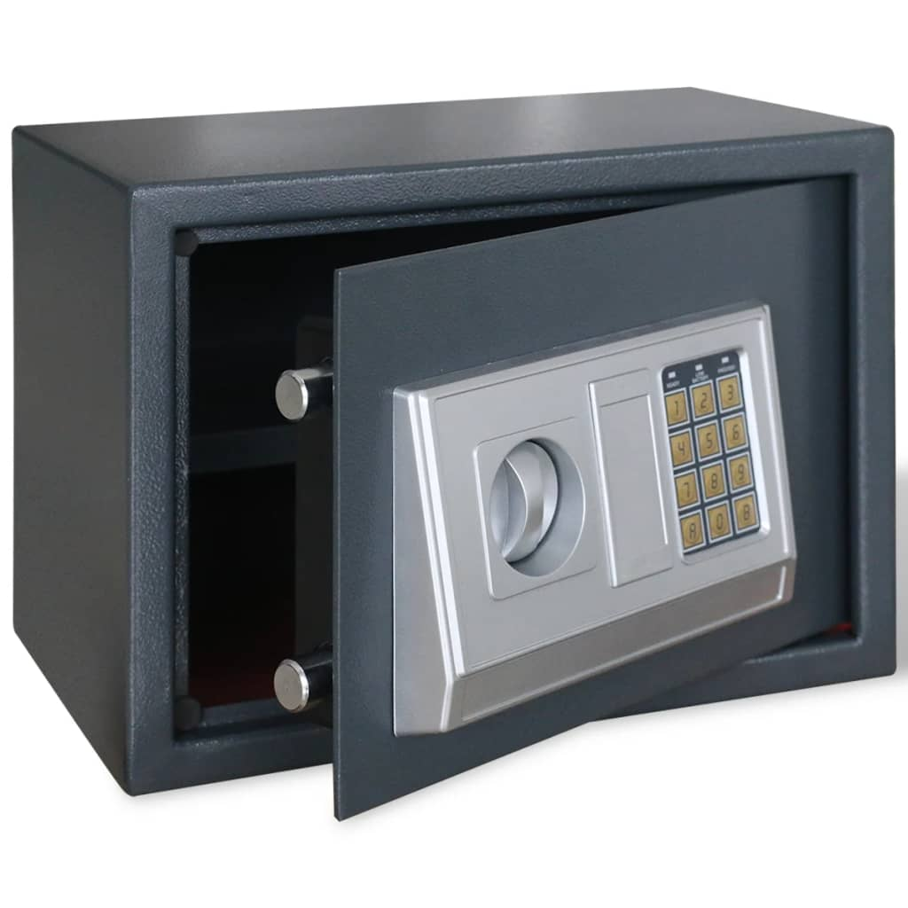 vidaXL Electronic Digital Safe with Shelf 35 x 25 cm